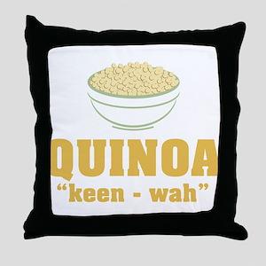 Quinoa Pronunciation Throw Pillow