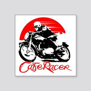 "Cafe Racer Square Sticker 3"" x 3"""