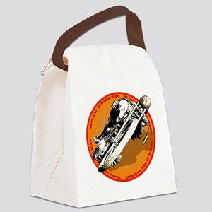 Road Hugger Motorcycle Canvas Lunch Bag