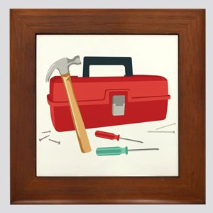 Toolbox And Tools Framed Tile