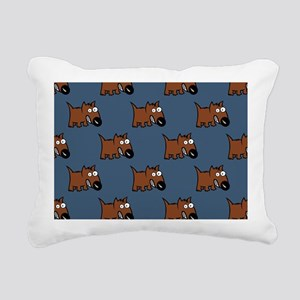 Cute Angry Brown Dog on  Rectangular Canvas Pillow