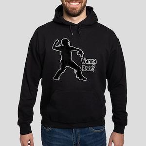 black Wanna Race on black Hoodie (dark)