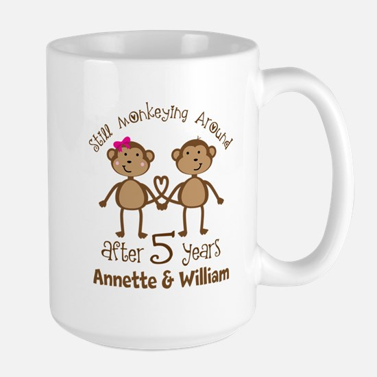 5th Anniversary Personalized Gift Mugs