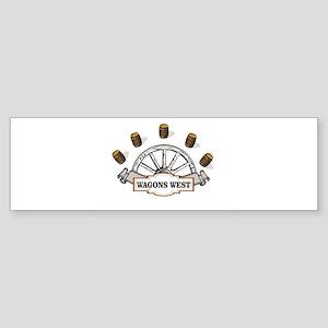 wagons west barrels Bumper Sticker