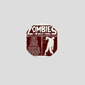 I Heart Zombies Mini Button