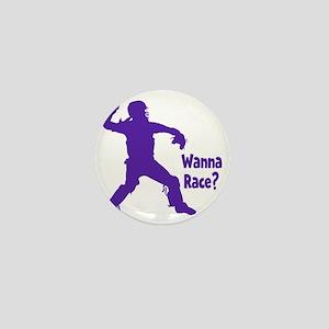purple Wanna Race Mini Button