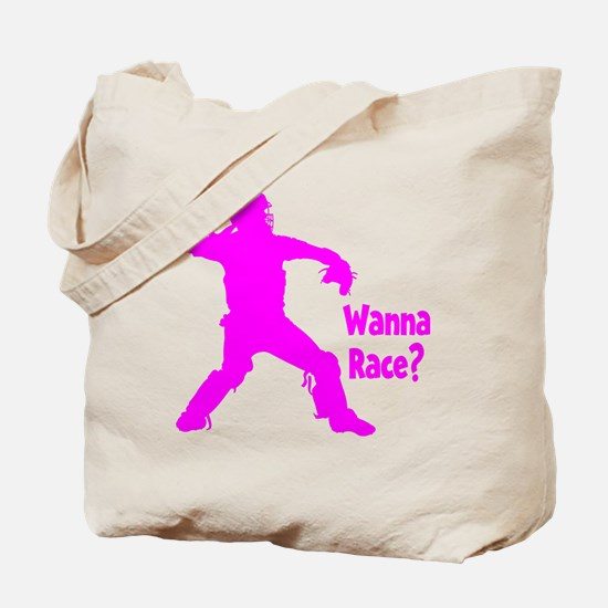 pink Wanna Race Tote Bag