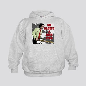 My Daddy is a Rock Star Kids Hoodie