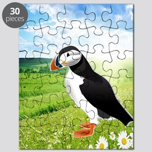 Atlantic Puffin Look forward to love - Copy Puzzle