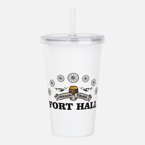 fort hall pioneer arch Acrylic Double-wall Tumbler