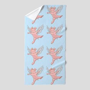 Flying Pig Beach Towel