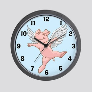 Flying Pig Wall Clock