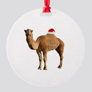 Merry Hump Day Camel Christmas Round Ornament
