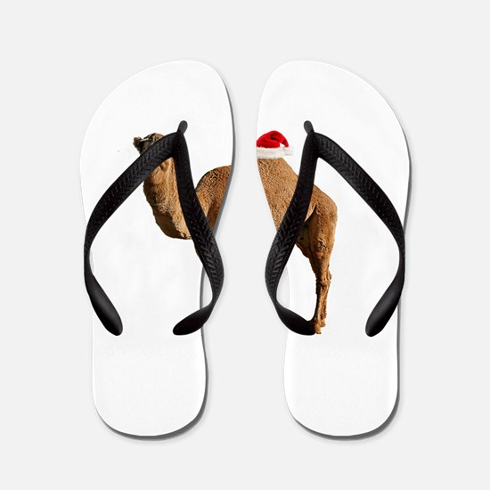 Merry Hump Day Camel Christmas Flip Flops