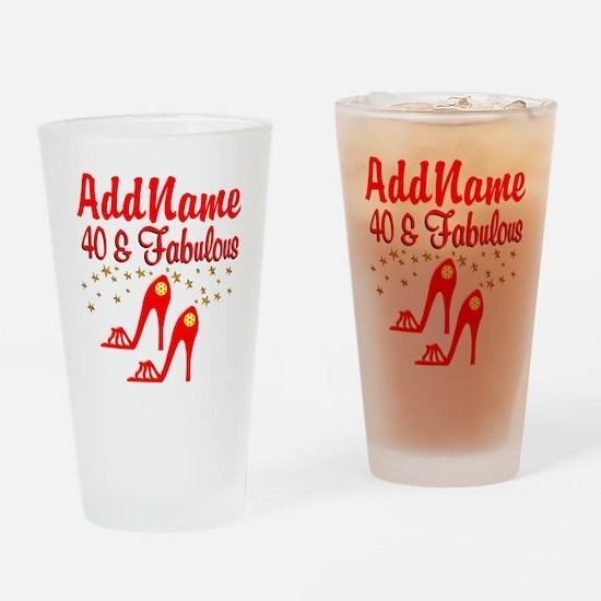 40TH STILETTO Drinking Glass