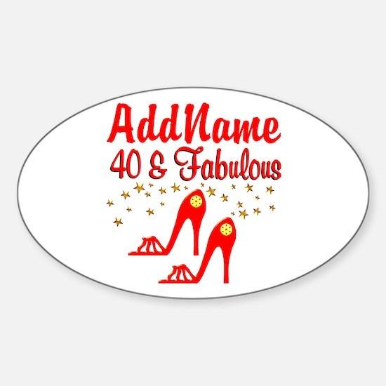 40TH STILETTO Sticker (Oval)