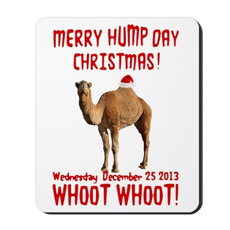 Merry Hump Day Camel Christmas Mousepad