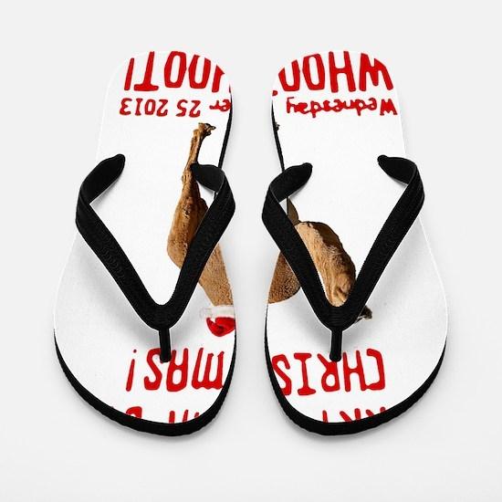 Merry Hump Day Camel Christmas Flip Flops
