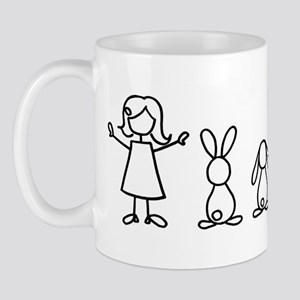 5 bunnies family sticker (crazy bunny l Mug