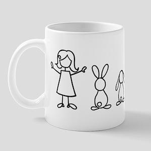 5 bunnies family sticker (crazy bunny l Mug