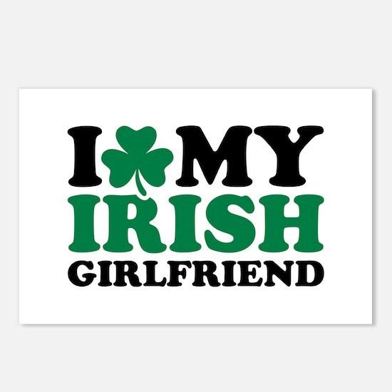 I love my Irish girlfriend Postcards (Package of 8