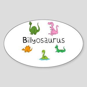 Billyosaurus Oval Sticker