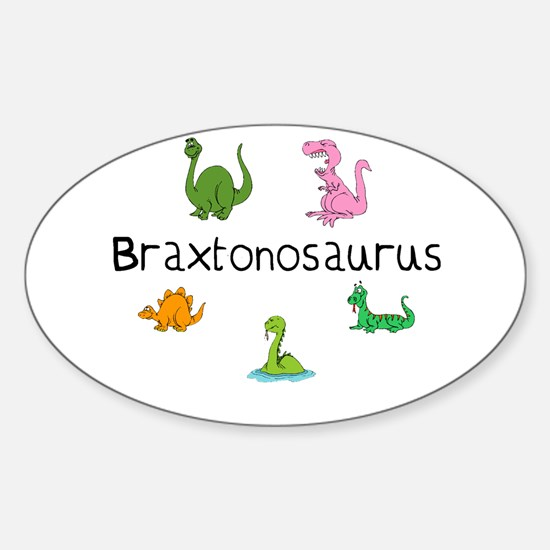 Braxtonosaurus Oval Decal
