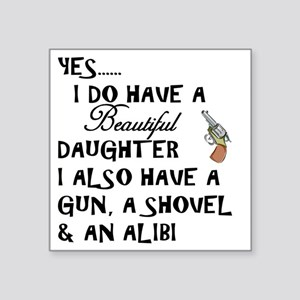 "Daughter Square Sticker 3"" x 3"""
