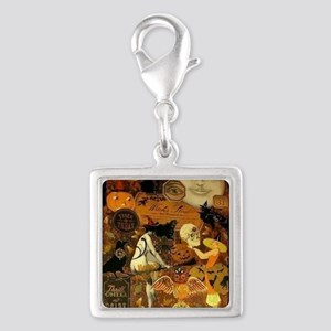 Witchs Stew Silver Square Charm