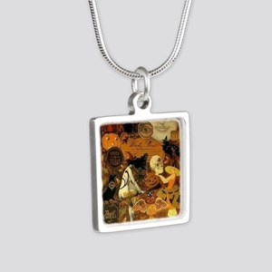 Witchs Stew Silver Square Necklace