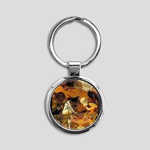 Witchs Stew Round Keychain