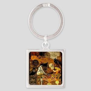 Witchs Stew Square Keychain