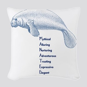Manatee Woven Throw Pillow