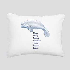 Manatee Rectangular Canvas Pillow