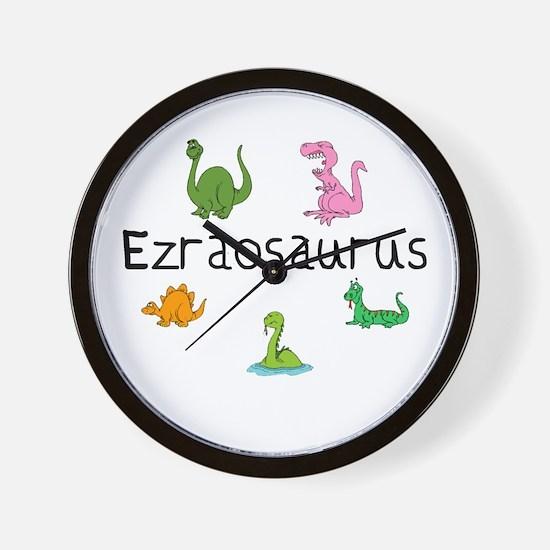 Ezraosaurus Wall Clock