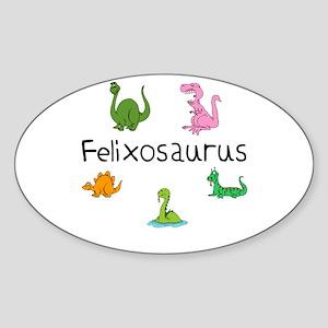 Felixosaurus Oval Sticker