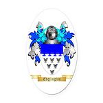Edglington Oval Car Magnet
