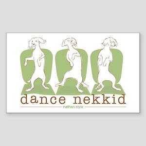 dance nekkid Sticker (Rectangle)
