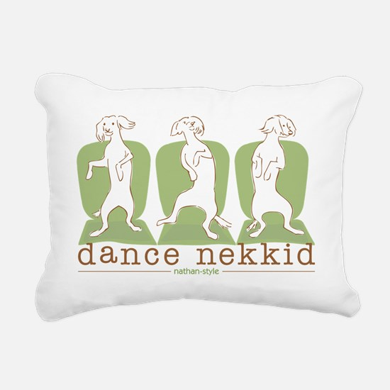 dance nekkid Rectangular Canvas Pillow