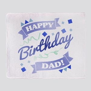 Dad's Birthday Party Throw Blanket