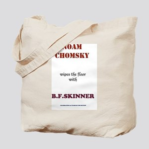 Chomsky VS. Skinner Tote Bag