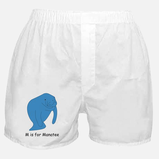 M is for Manatee Boxer Shorts