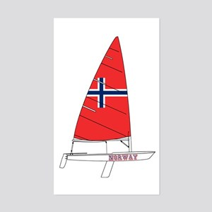 Norway Dinghy Sailing Sticker (Rectangle)