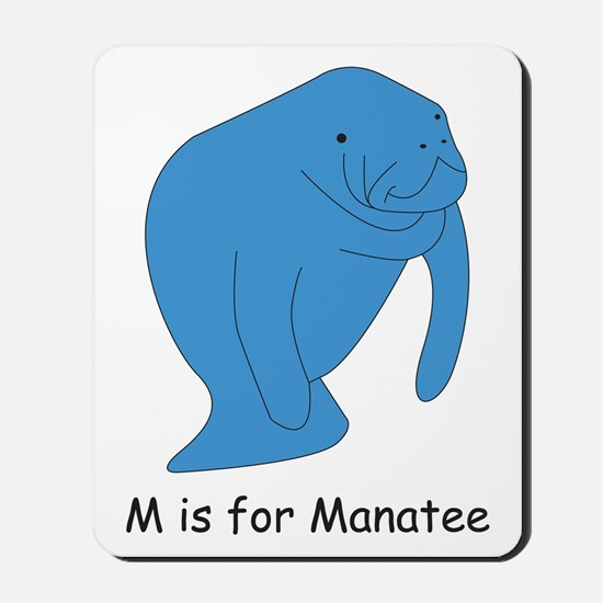M is for Manatee Mousepad