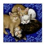 4 Cats Tile Coaster