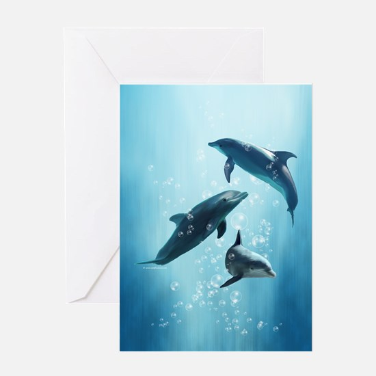 Dolphins in the Sea Greeting Card