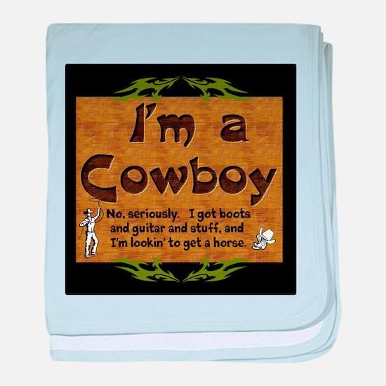 Im a Cowboy baby blanket