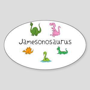 Jamesonosaurus Oval Sticker