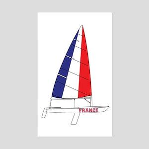 France Dinghy Sailing Sticker (Rectangle)