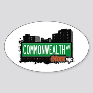 Commonwealth Av, Bronx, NYC Oval Sticker